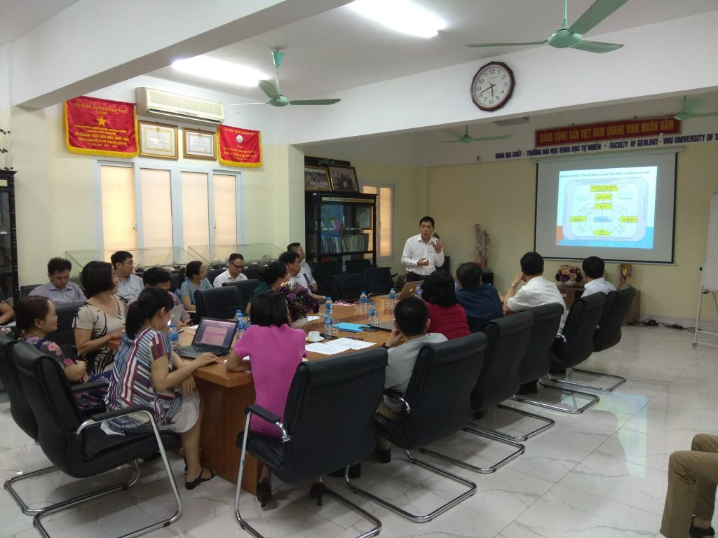 Tập huấn công tác đào tạo cho các cán bộ Khoa Địa chất