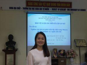 Buổi bảo vệ luận án Tiến sĩ cấp Cơ sở của NCS Trần Thị Dung – Khoa Địa chất