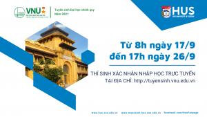 Hướng dẫn xác nhận nhập học trực tuyến ĐHCQ năm 2021 của ĐHQGHN